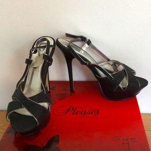 "Women's Joey O Strappy Platform 5"" Heels Black 6M"